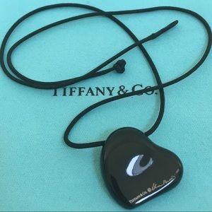🔴💗Authentic Tiffany & Co Elsa black lacquer ❤️